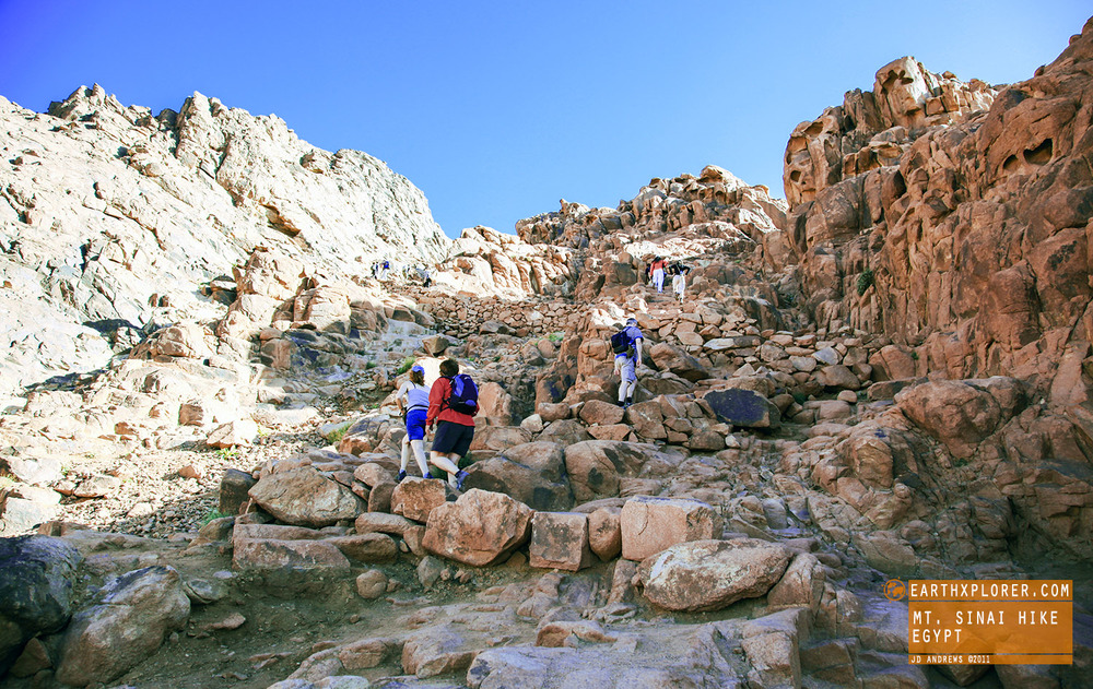 Mt Sinai Looking up Trail with climbers Egypt.jpg