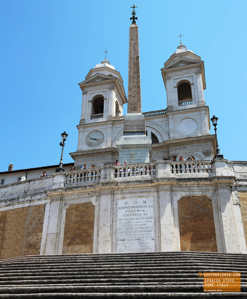 The Spanish steps were built in 1723-1725
