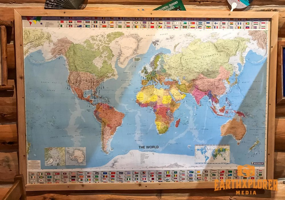 It's fun to study the map in the dinning room to see that guests come from all over the world:  New Zealand, Australia, Japan, Taiwan, all of Europe, even Africa. And of course from every state in the United States and most of the provinces in Canada.  It has wide appeal to guests who are looking for an authentic working ranch vacation.