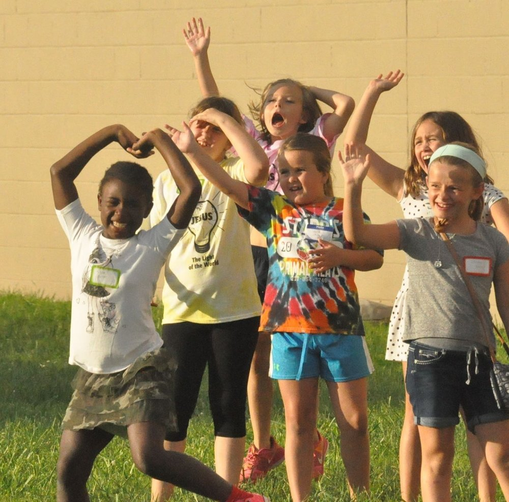 A outdoor activity from VBS 2016.