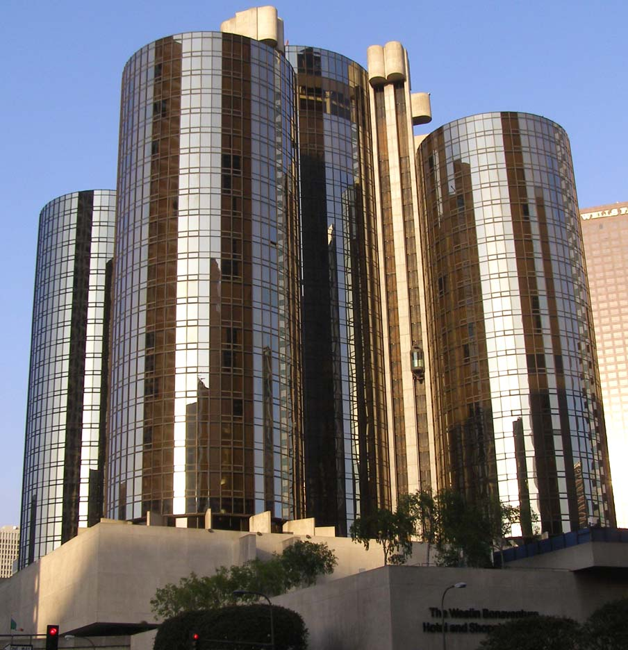 Venue for the Emmy Awards: Bonaventure Hotel, Los Angeles.