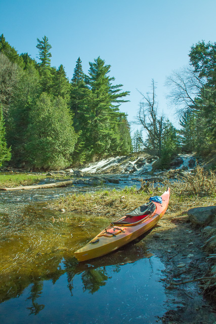 Start of 125 metre portage on Head Creek