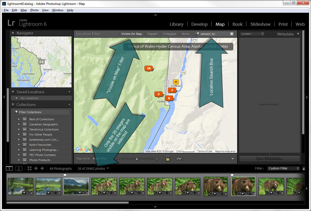 "Lightroom's ""Visible on Map"" FEature"