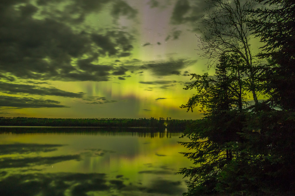 Northern Lights, Quetico Provincial Park, Ontario (8s exposure; f/2.8; ISO 1600)