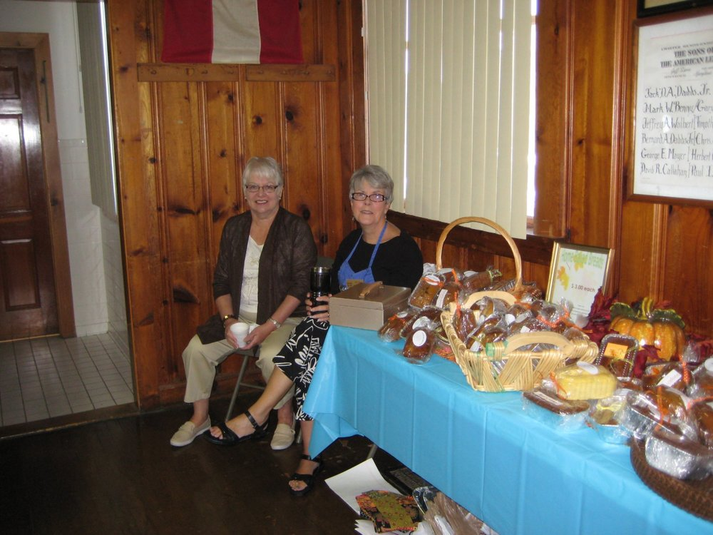 Shirley Clark and Willie DiLaura sell mini-quick breads.