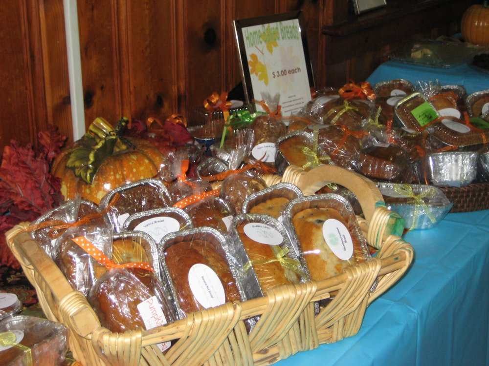 A delicious assortment of mini-quick breads were for sale.