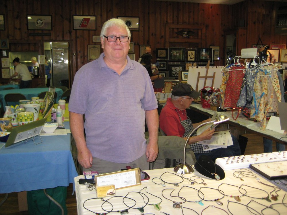 Robert Shaffer exhibited his handcut gemstone jewelry.