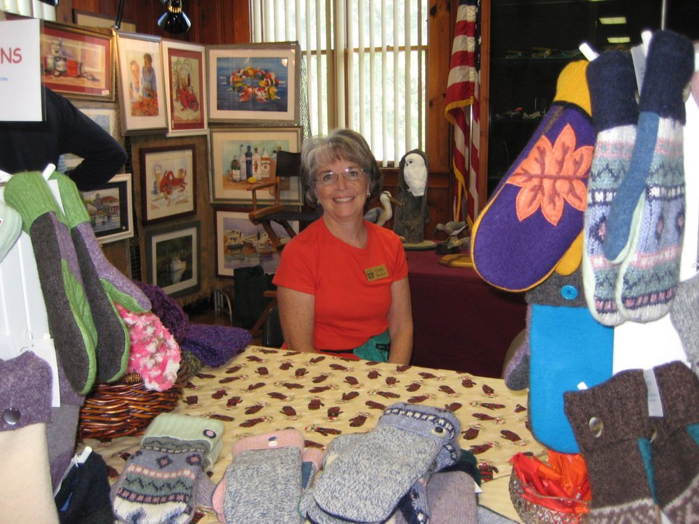 Cindy Backer's handmade wool mittens will warm many hands this coming winter.