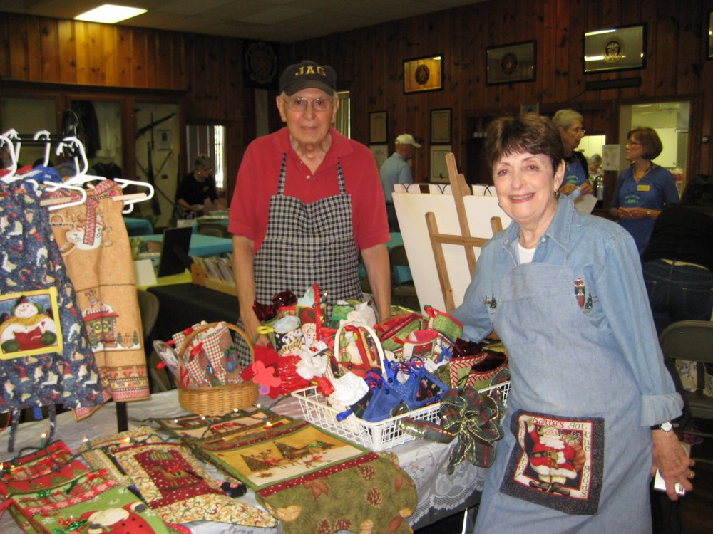 Amy and Joe Marotta offered a great variety of Christmas gift items.