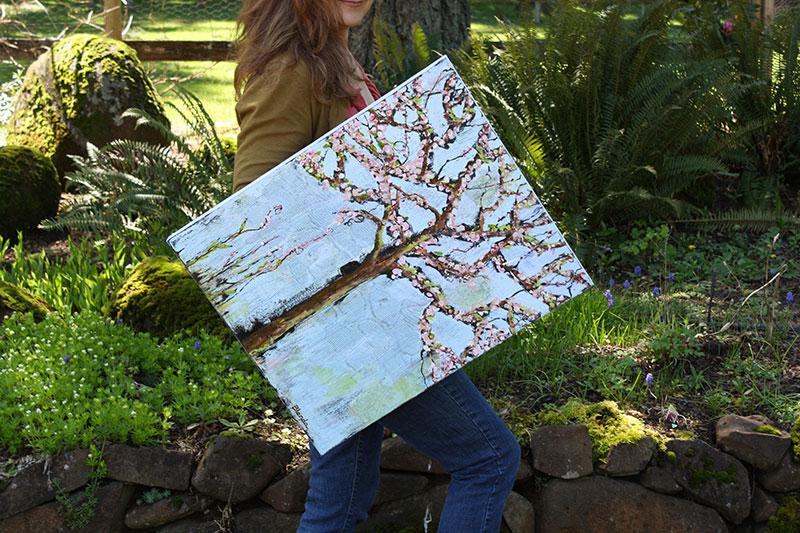 Art Painting Tree Blossoms by Blenda Studio