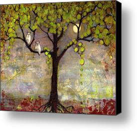 "Moon River Tree 8X10"" Canvas Print"