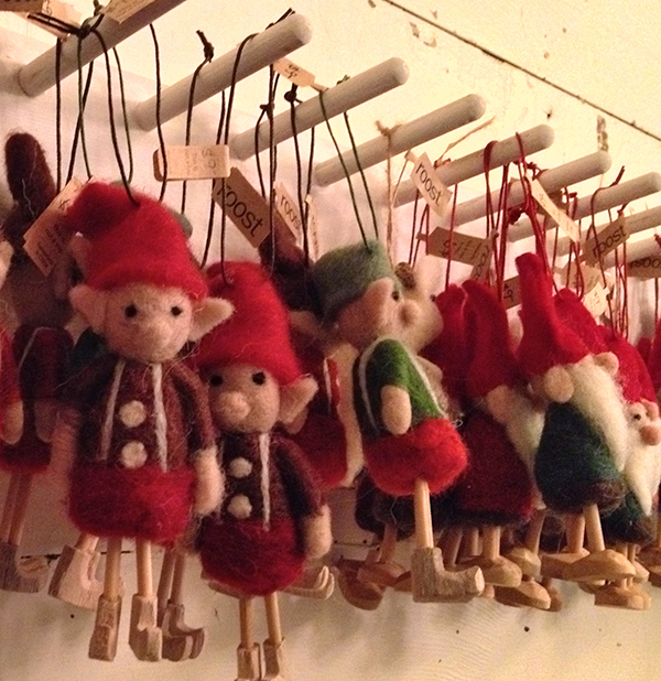 Elves in the gift shop in time for holiday shopping.