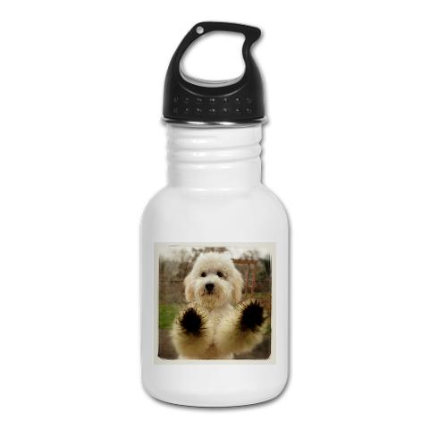 Goldendoodle Pup Kids Water Bottle $12.50