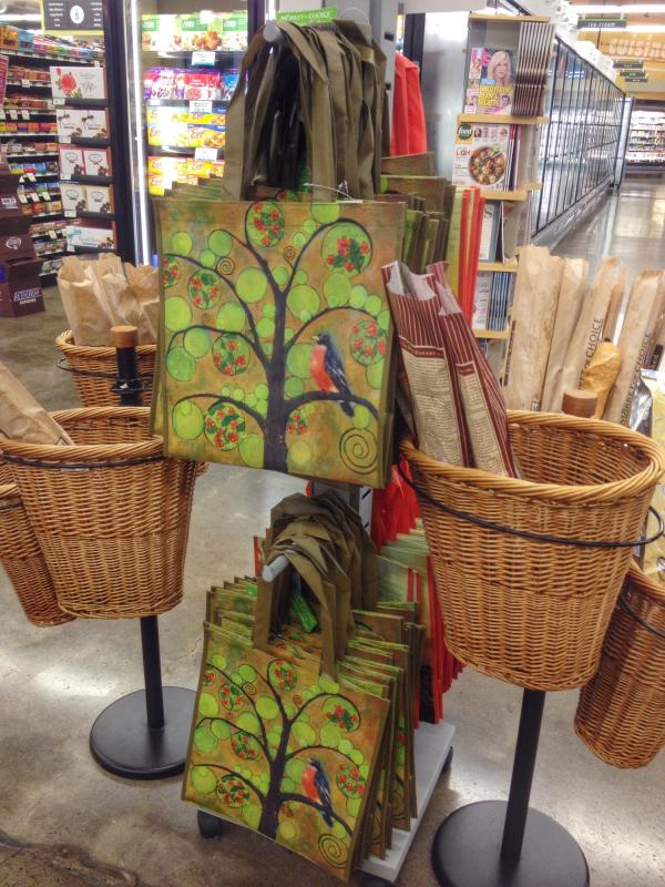 West Linn Market of Choice Art Bag by Blenda Tyvoll