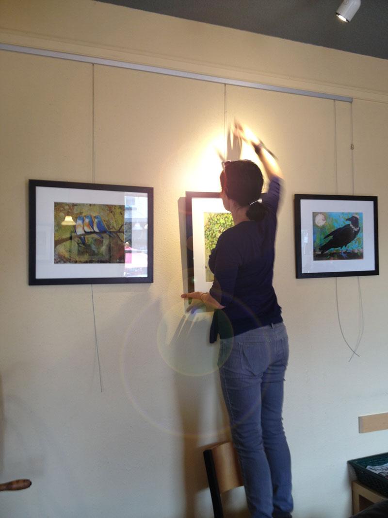 Erica hanging art