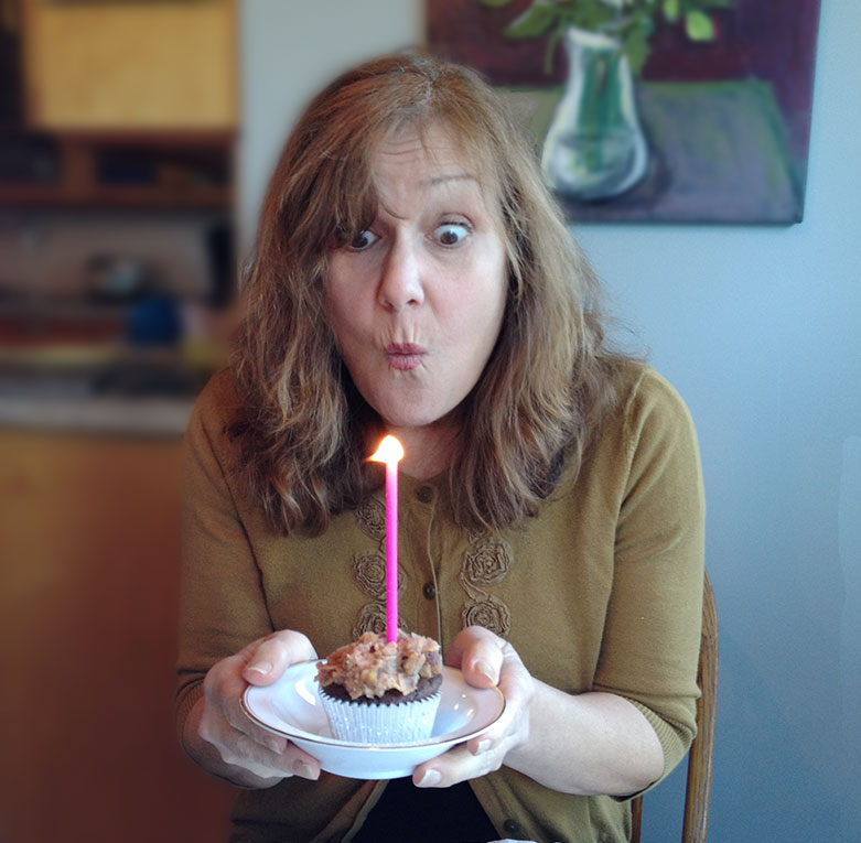 Birthday and a Giveaway Contest - Going all cross eyed while blowing out the candle haha ...Photo by Erica