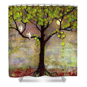 Moon River Tree Shower Curtain