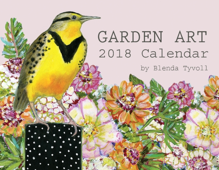 Sneak peek garden art 2018 calendar blenda studio for Gardening 2018 calendar