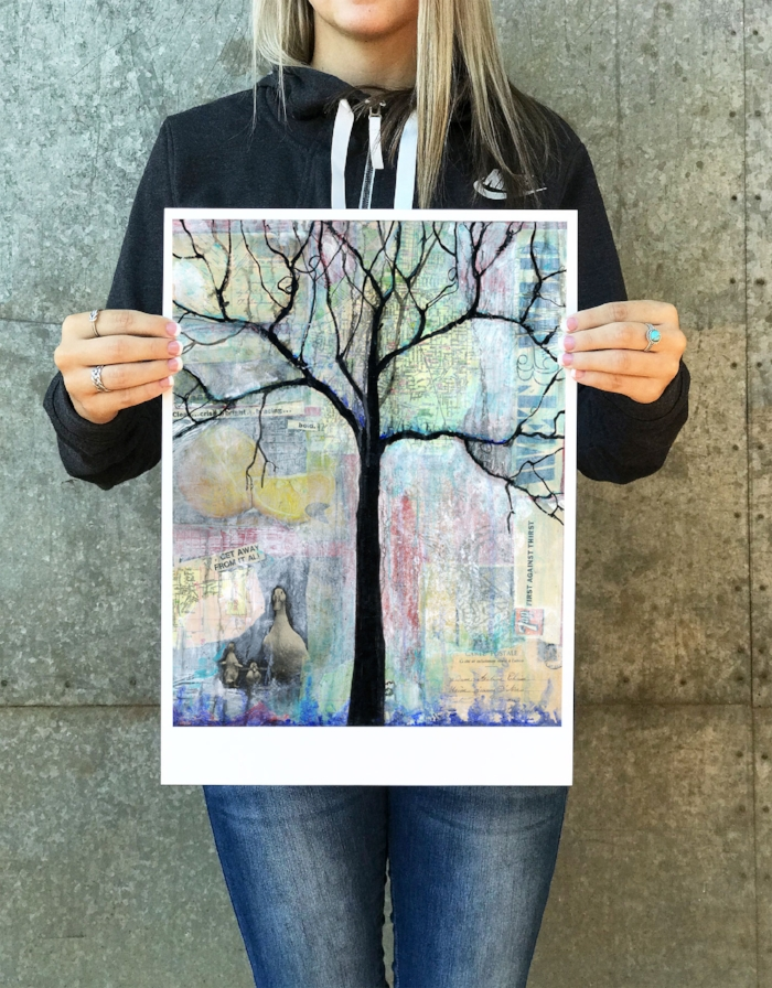 Wet and Wild Tree Print