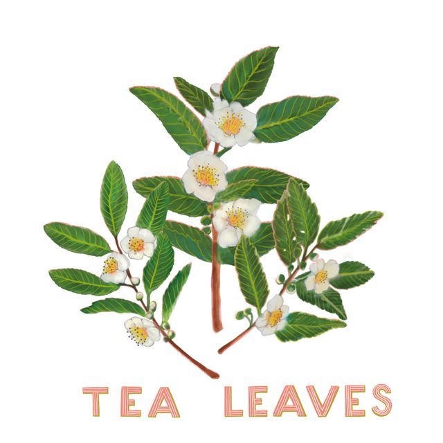 Tea Leaf Blossoms by Blenda Tyvoll