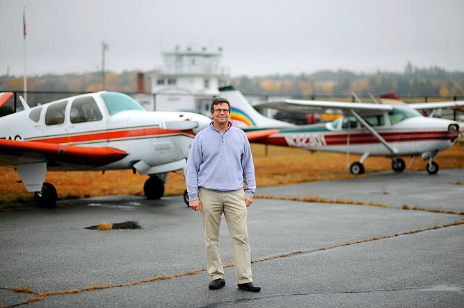 Airport Commission Chairman Joe Poznick at the Fitchburg Municipal Airport.