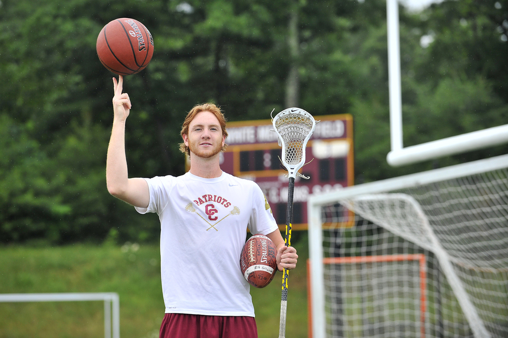 Recent Concord-Carlisle High School graduate, Austin Hoey, was a four-year varsity letter winner in football, basketball, and lacrosse, Tuesday, June 28, 2016.