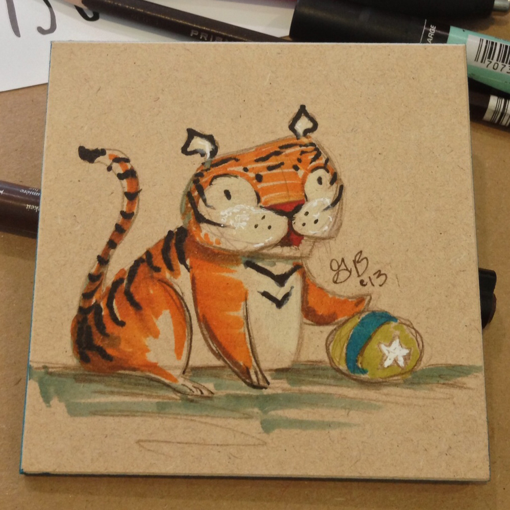 tiger that went to a new home.