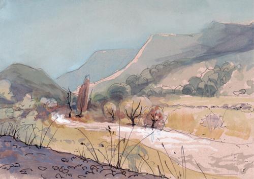 landscape scene on MDF