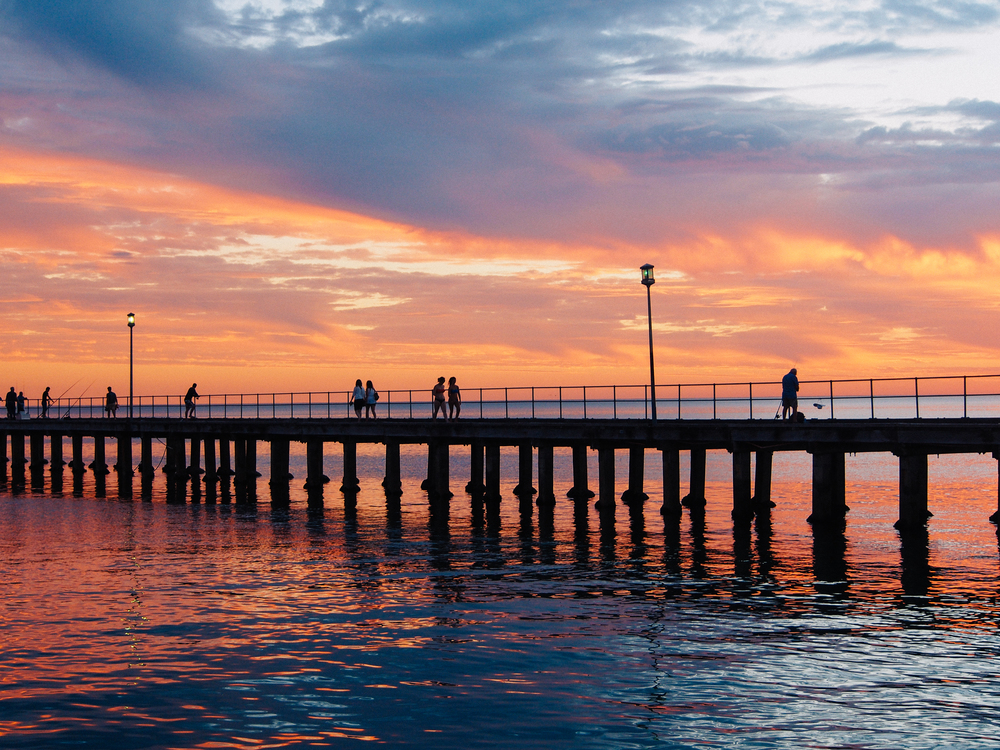 Mordialloc pier at sunset