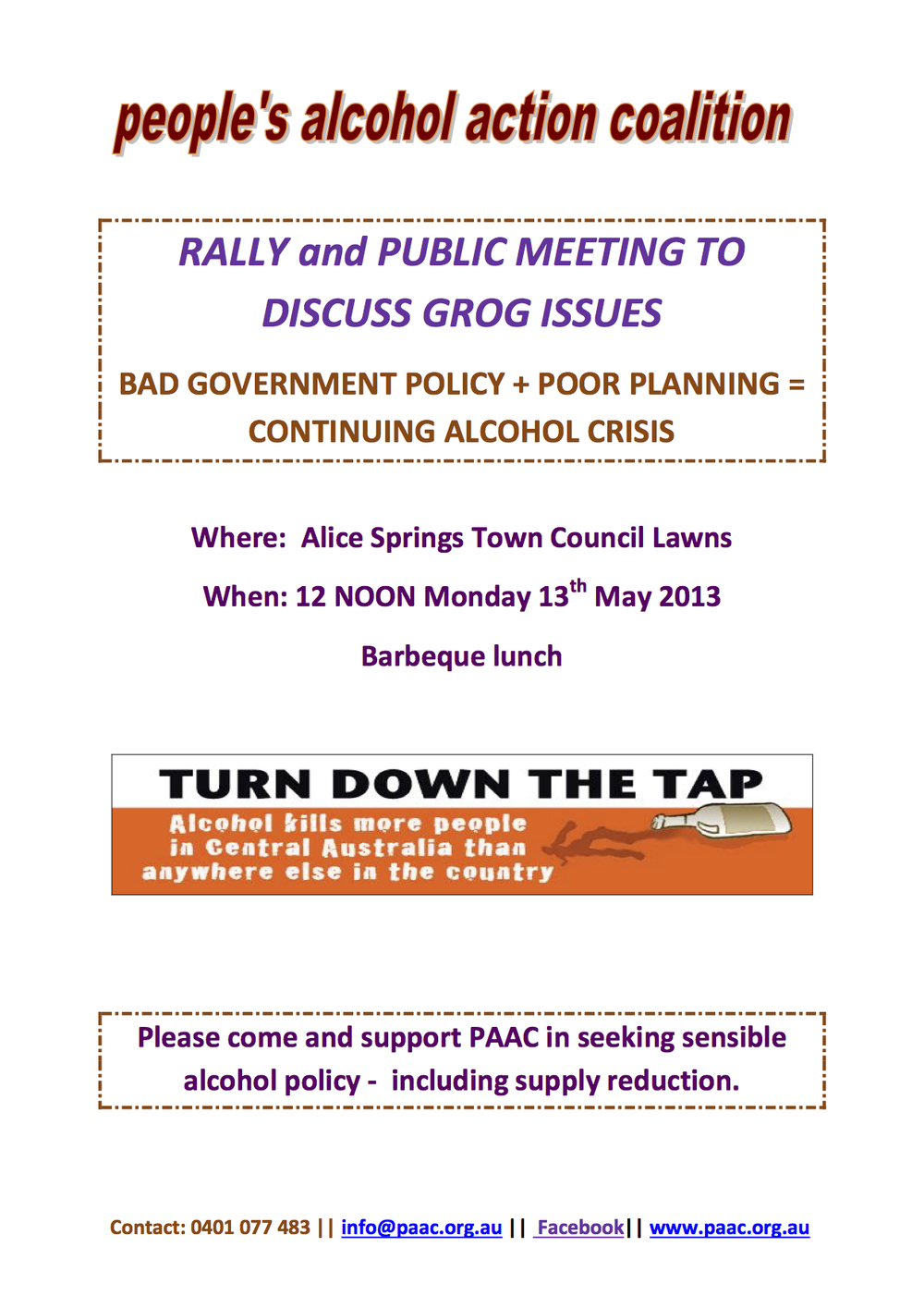 PAAC GROG CRISIS RALLY ALICE SPRINGS 13TH MAY FLYER 5.5.13.jpg