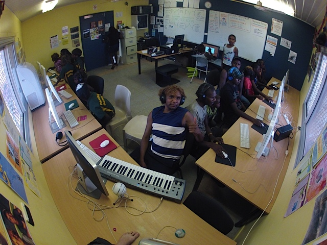 Papunya Computer Room in action