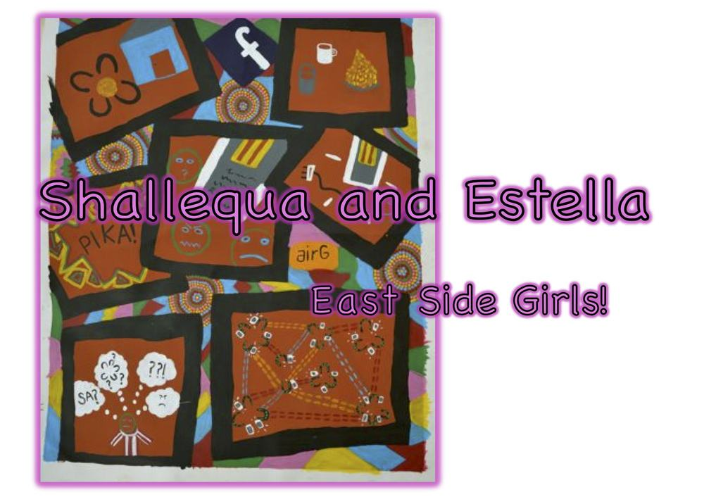 Shallequa and Estella East Side Girls is an illustrated bilingual story book (Pintupi-Luritja/English), and includes input from three communities.
