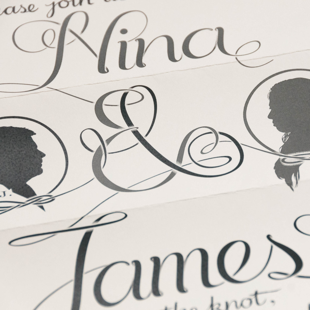 Nina & James' Wedding Invitation