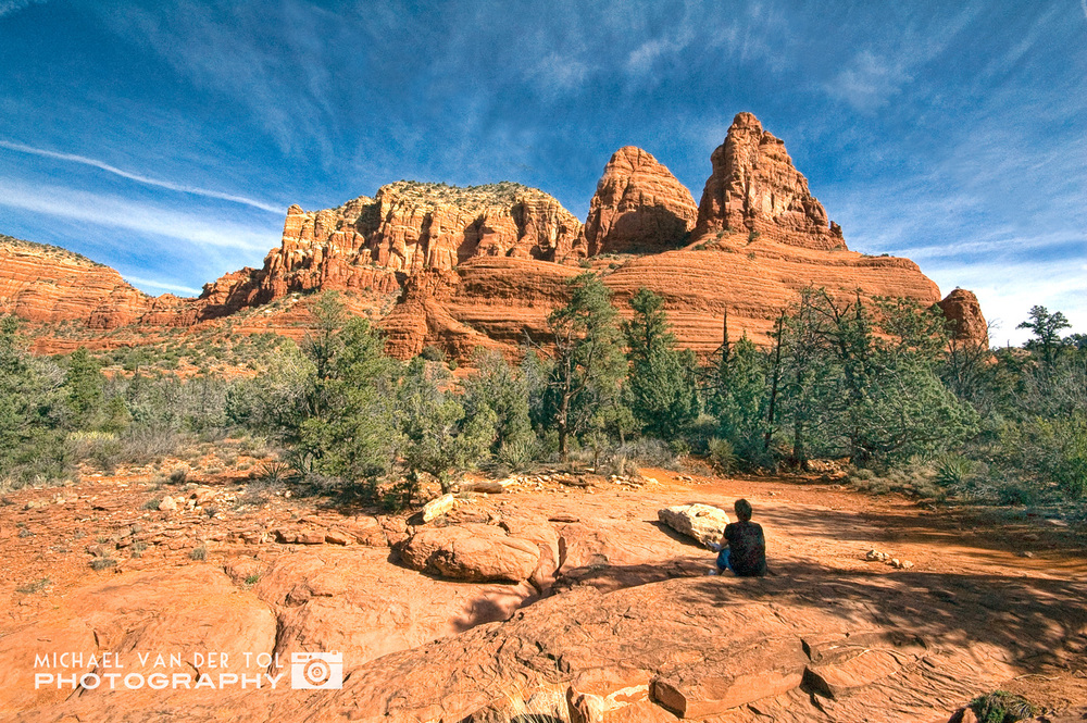 Meditating among the Red Rocks, Sedona, Arizona, 2009
