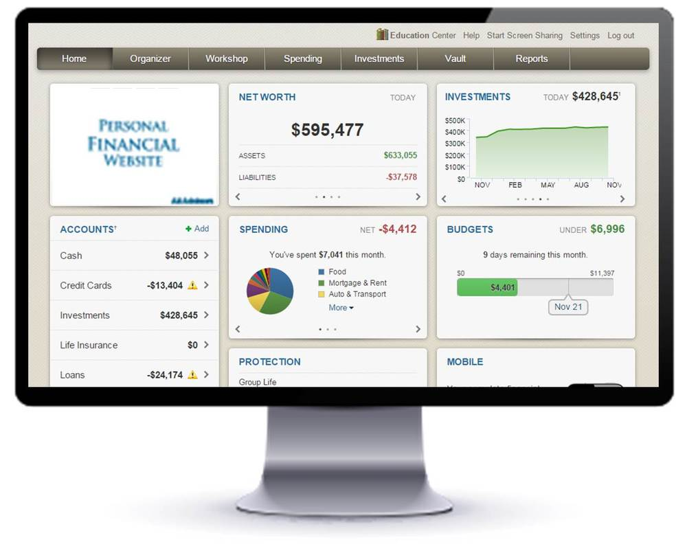 SCREENSHOT - PersonalFinancialWebsite.jpg