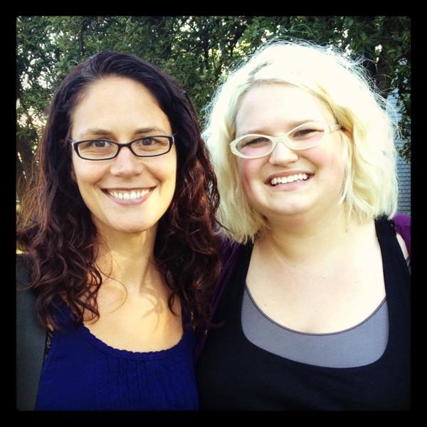 My cello student Rebecca & I