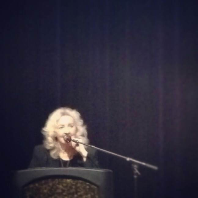 I'm happy to announce that Julia Cameron is hilarious and the cutest.