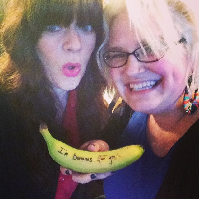 Shelby Earl and I played a pre-Valentine's Show. I brought her a banana.
