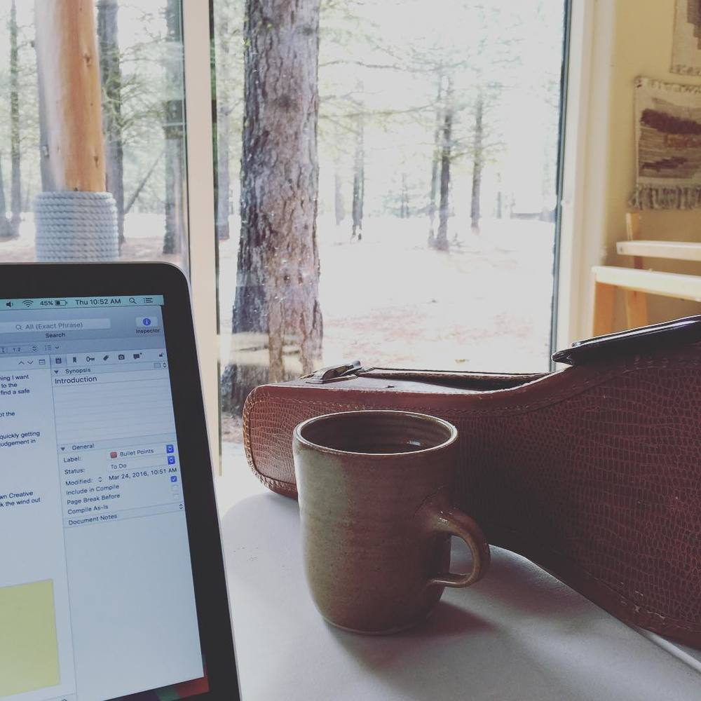 (ukulele, tea, Scrivener, and a view - 4 important tools for writing a book)