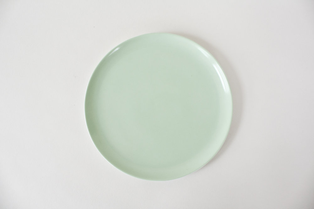 75. mint green salad plate