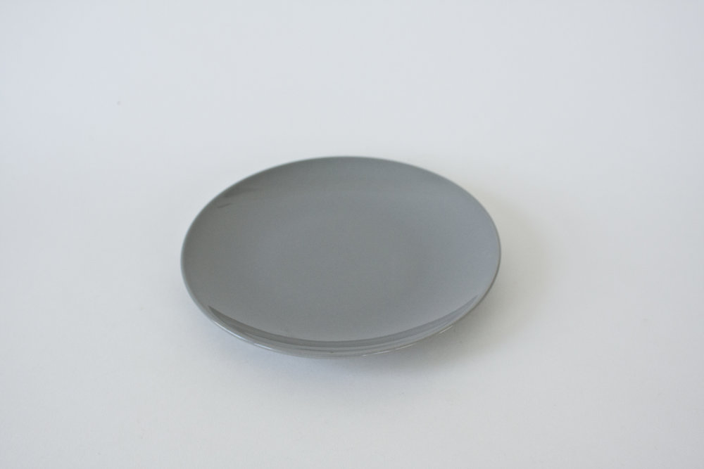 245. grey plate | 7.5""