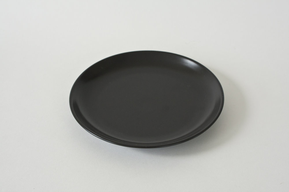 "249. black plate | 7.25"""
