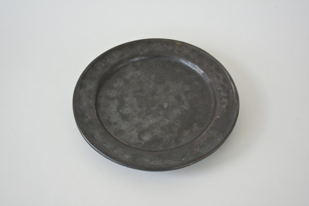 250. black dimpled plate | 8.25""