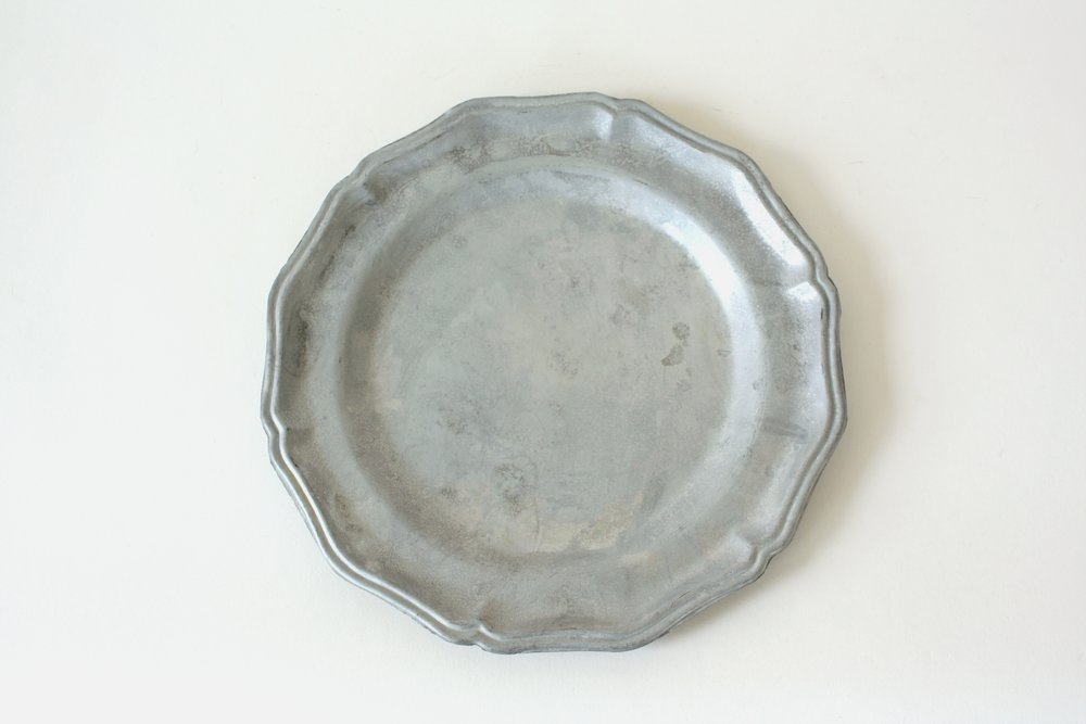 232. pewter plate | 10""