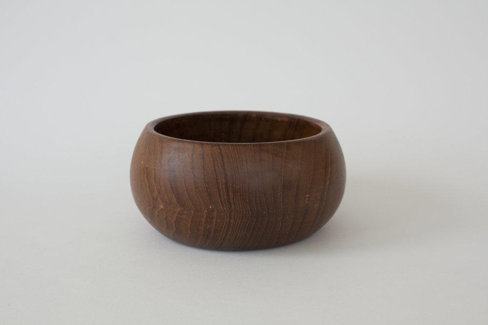 "266. wood bowl | 6"" x 3"" | 5"