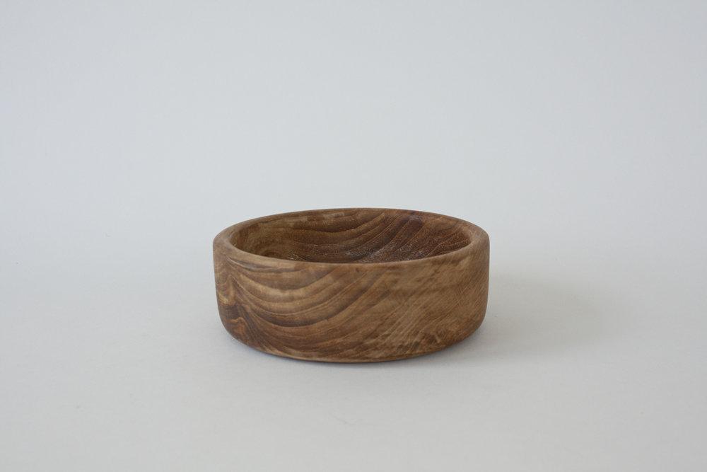 "269. wood bowl | 6"" x 2"" | 2"