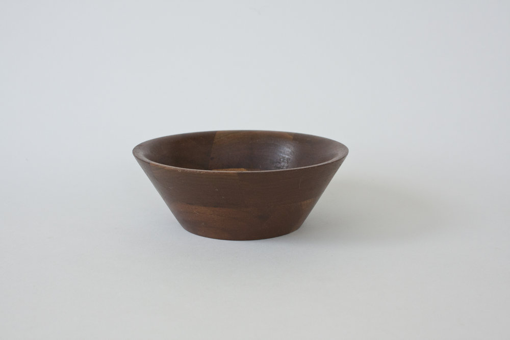 "271. wood bowl | 6"" x 2.25"" | 10"