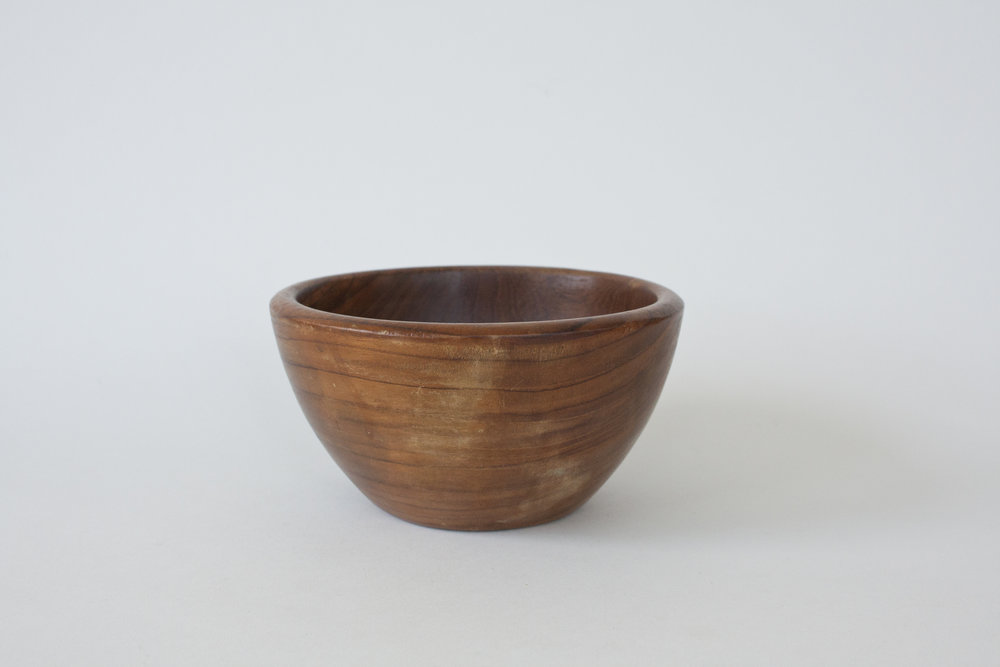 "273. wood bowl | 6"" x 3.25"""