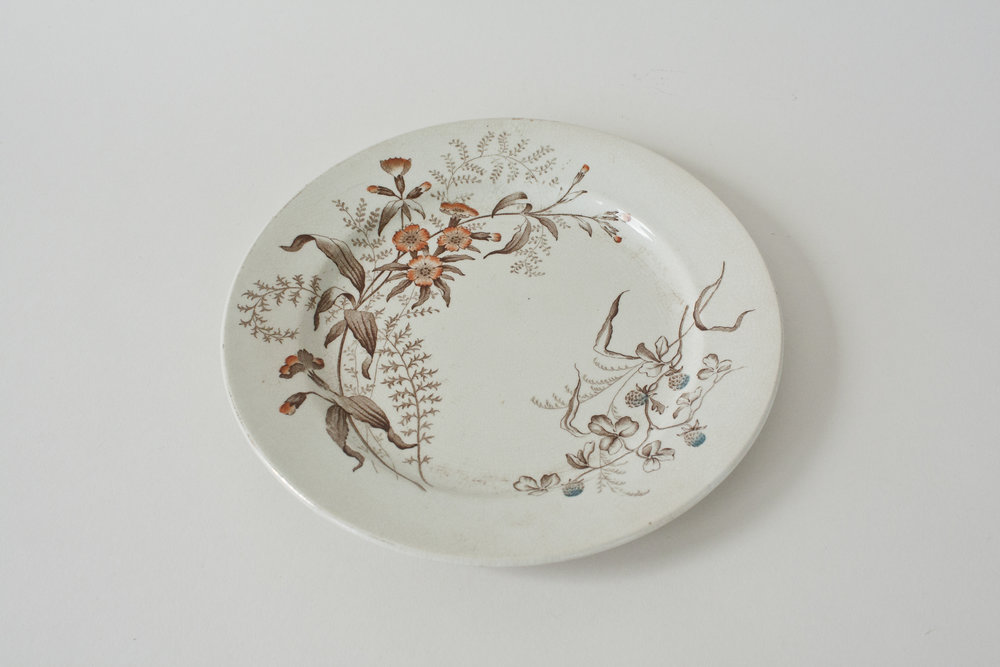 256. floral plate | 8""