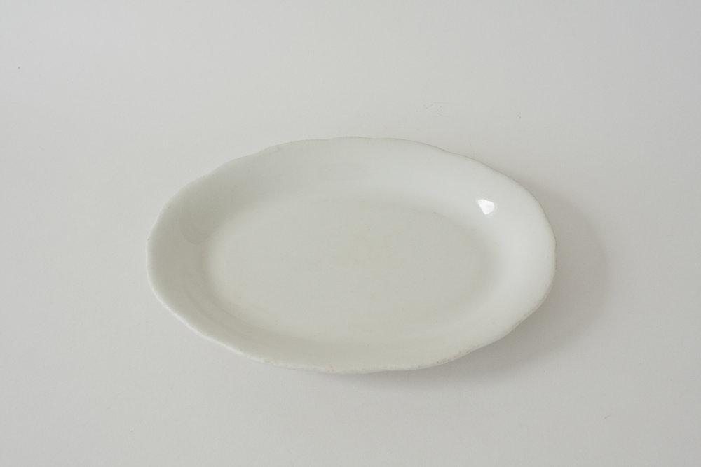 "259. ironstone platter | 9.75"" x 7.25"""